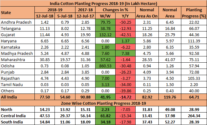 India Cotton Planting Pace Remains Slow On Dry Weather